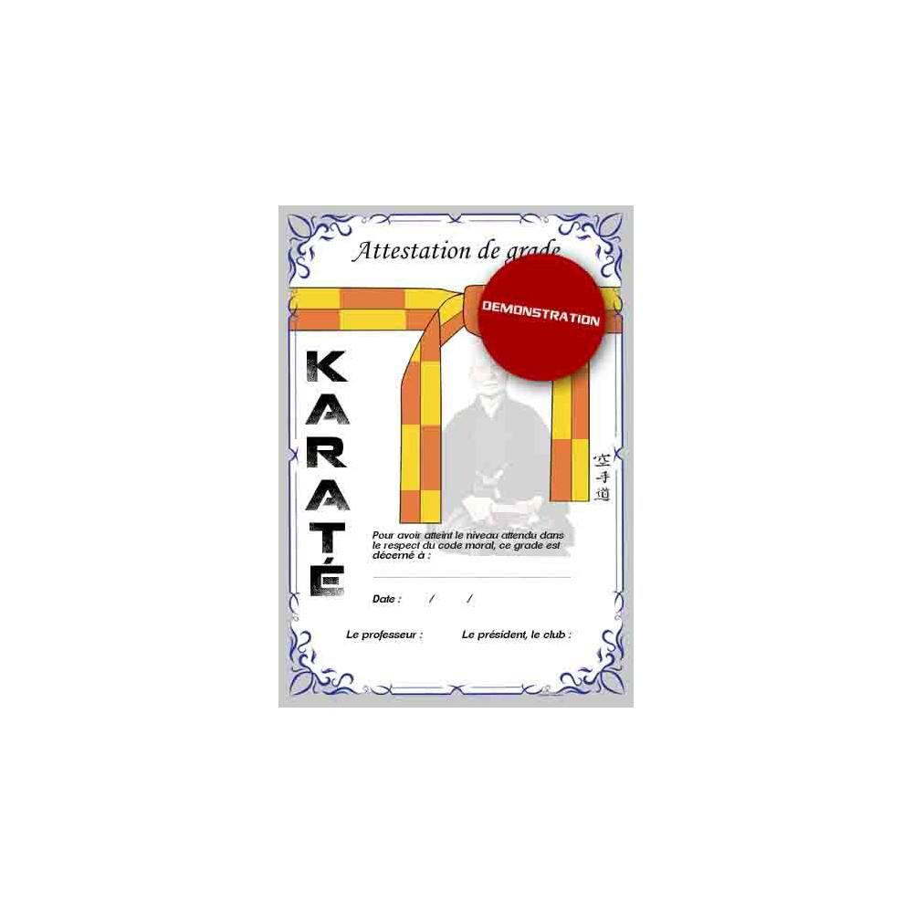 Certificaci n de cintur n amarillo naranja info karate - Amarillo naranja ...